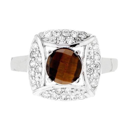 bague femme argent zirconium diamant 8100287 pic2