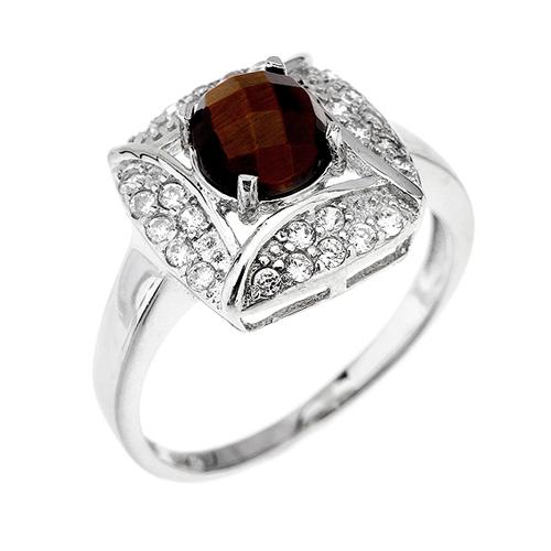 bague femme argent zirconium diamant 8100287