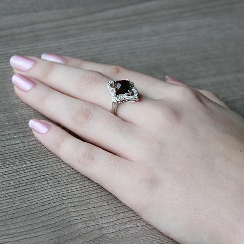bague femme argent zirconium diamant 8100288 pic6
