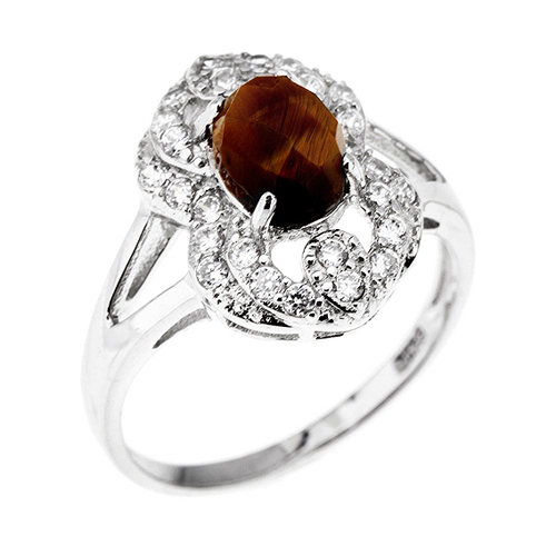 bague femme argent zirconium diamant 8100289