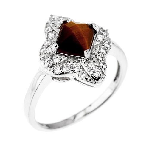 bague femme argent zirconium diamant 8100290