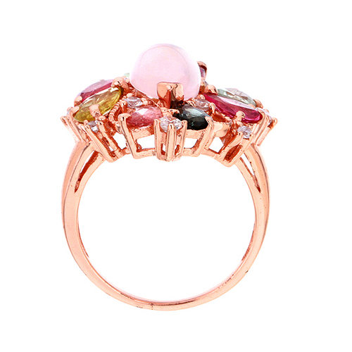 bague femme argent zirconium diamant tourmaline 8100328 pic3
