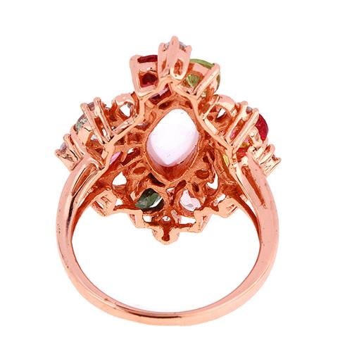 bague femme argent zirconium diamant tourmaline 8100328 pic4