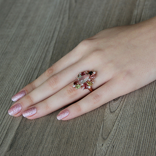 bague femme argent zirconium diamant tourmaline 8100328 pic5