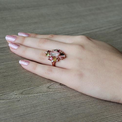 bague femme argent zirconium diamant tourmaline 8100328 pic6