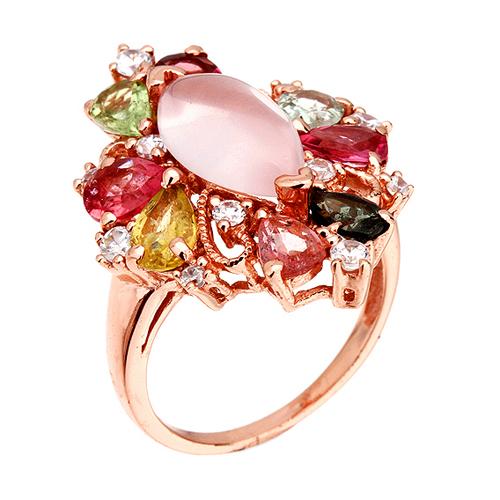 bague femme argent zirconium diamant tourmaline 8100328