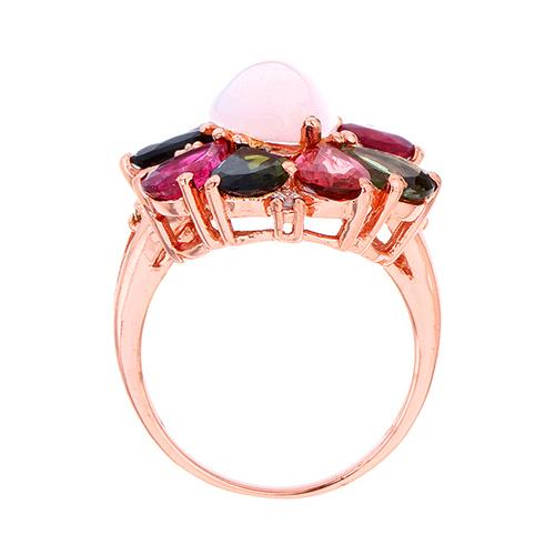 bague femme argent zirconium diamant tourmaline 8100329 pic3