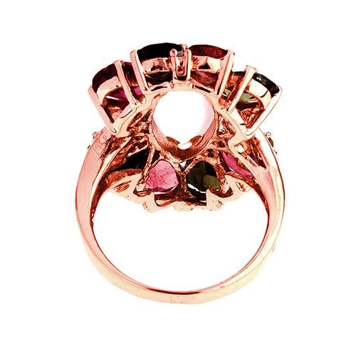 bague femme argent zirconium diamant tourmaline 8100329 pic4