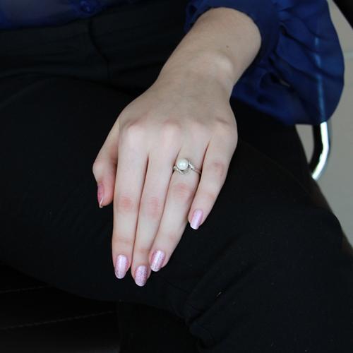 bague femme argent zirconium perle 8100379 pic5