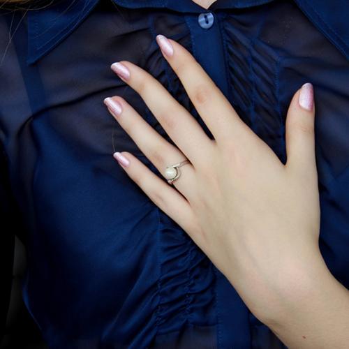bague femme argent zirconium perle 8100379 pic6