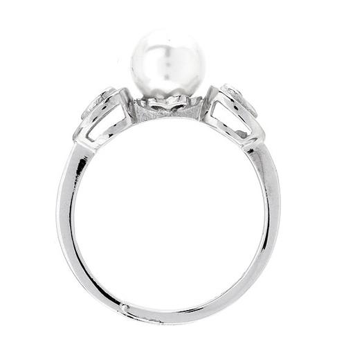 bague femme argent zirconium perle 8100496 pic3