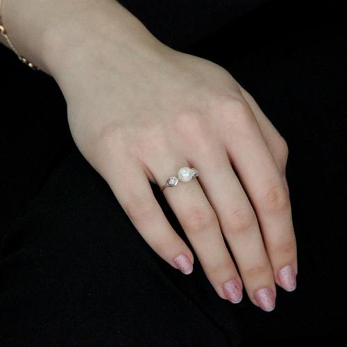 bague femme argent zirconium perle 8100496 pic5