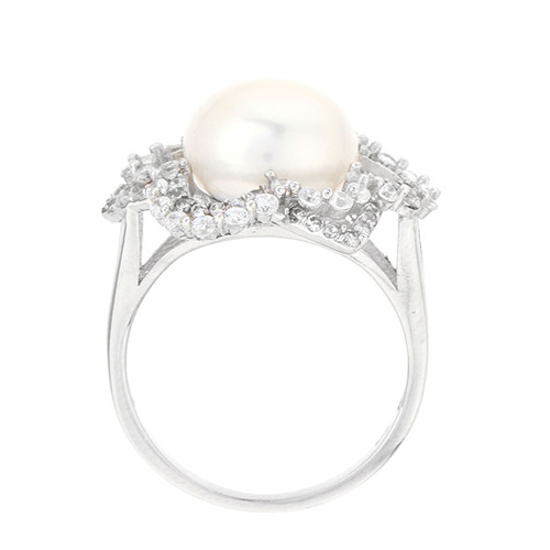 bague femme argent zirconium perle 8100553 pic3