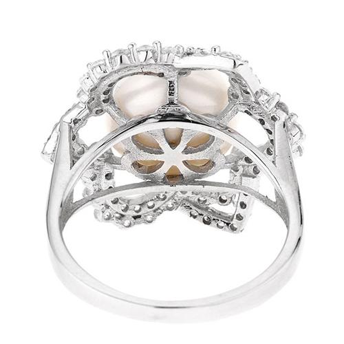 bague femme argent zirconium perle 8100553 pic4