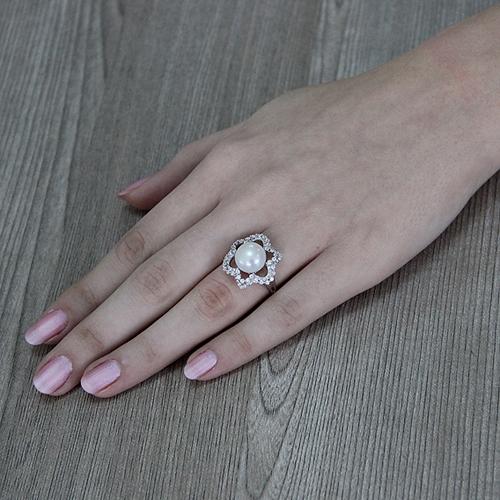 bague femme argent zirconium perle 8100553 pic6