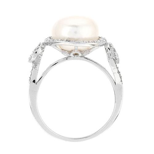 bague femme argent zirconium perle 8100554 pic3