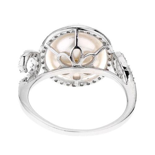 bague femme argent zirconium perle 8100554 pic4