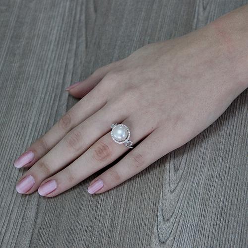 bague femme argent zirconium perle 8100554 pic6