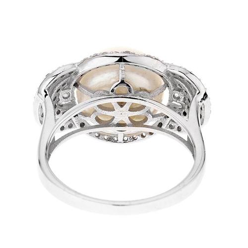 bague femme argent zirconium perle 8100555 pic4