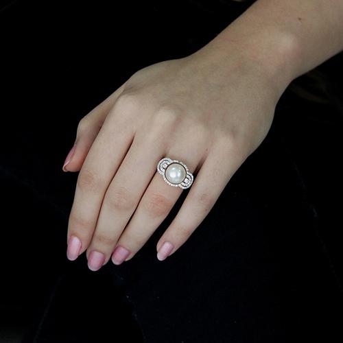 bague femme argent zirconium perle 8100555 pic5