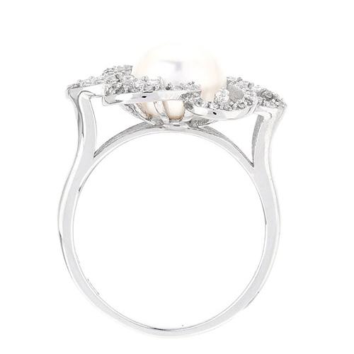 bague femme argent zirconium perle 8100556 pic3