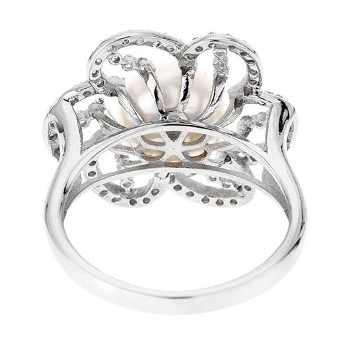 bague femme argent zirconium perle 8100556 pic4