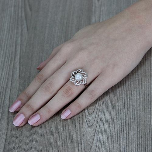 bague femme argent zirconium perle 8100556 pic6
