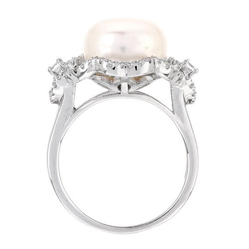 bague femme argent zirconium perle 8100557 pic3