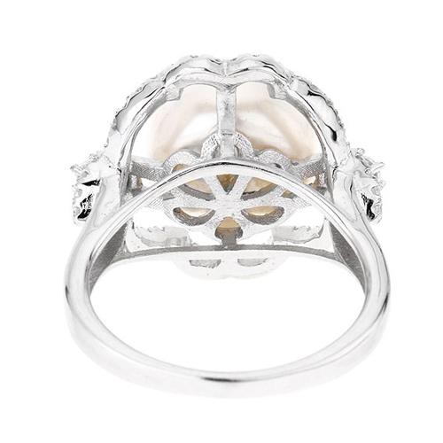 bague femme argent zirconium perle 8100557 pic4