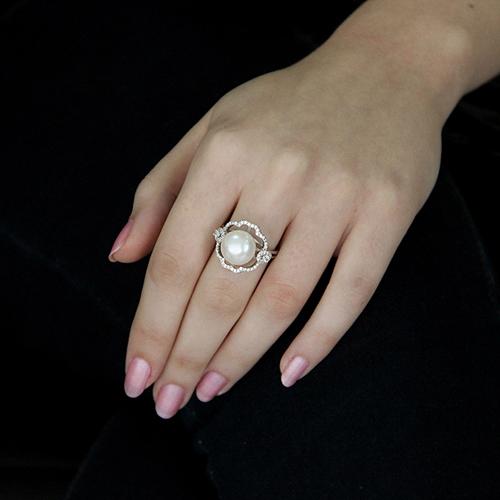 bague femme argent zirconium perle 8100557 pic5