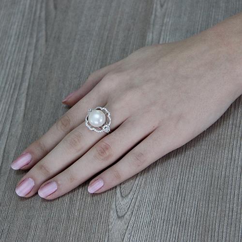 bague femme argent zirconium perle 8100557 pic6