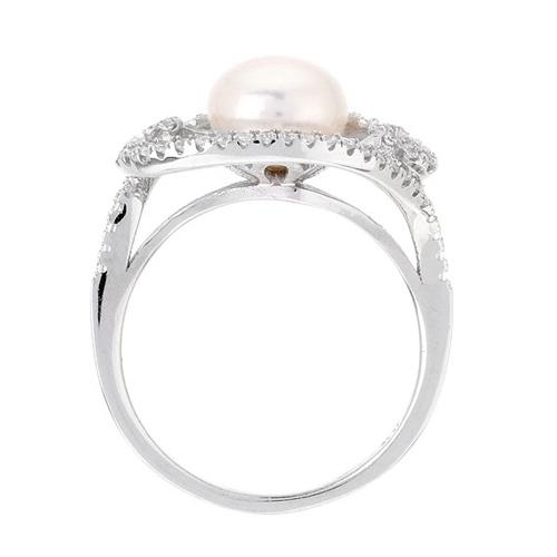 bague femme argent zirconium perle 8100558 pic3