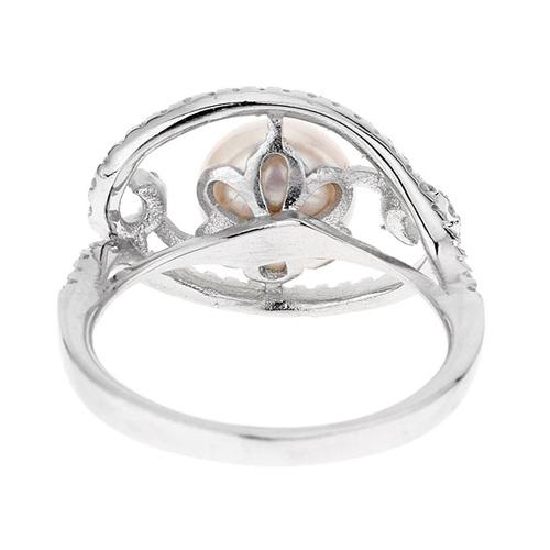 bague femme argent zirconium perle 8100558 pic4
