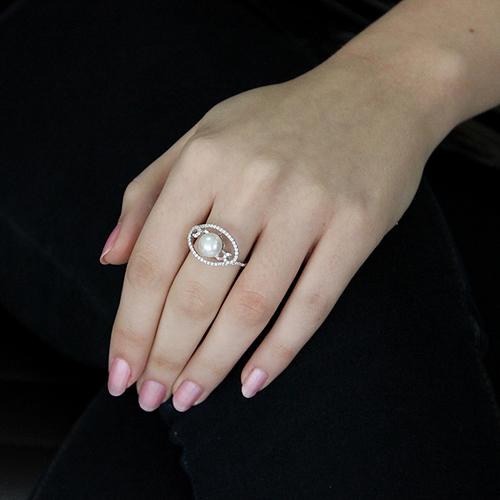 bague femme argent zirconium perle 8100558 pic5