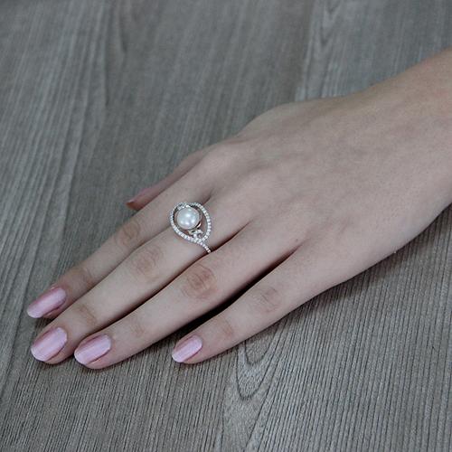 bague femme argent zirconium perle 8100558 pic6
