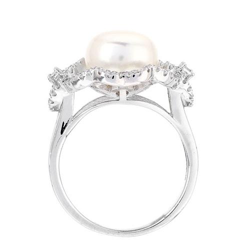 bague femme argent zirconium perle 8100559 pic3