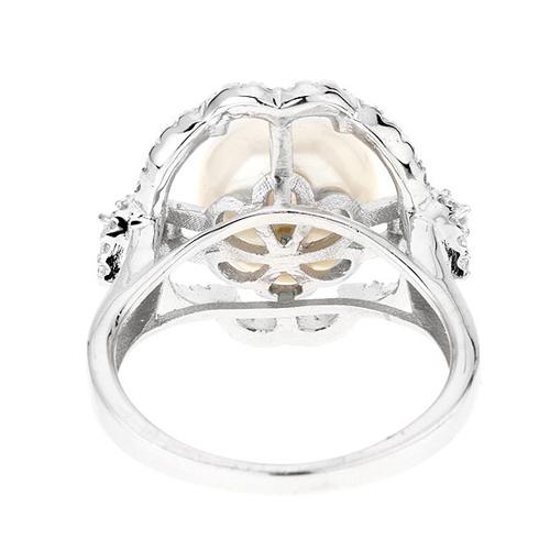 bague femme argent zirconium perle 8100559 pic4