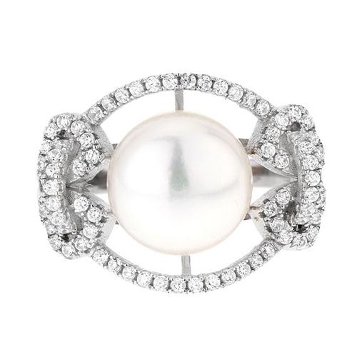 bague femme argent zirconium perle 8100560 pic2