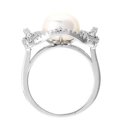 bague femme argent zirconium perle 8100560 pic3