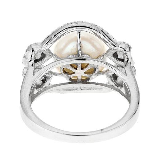 bague femme argent zirconium perle 8100560 pic4