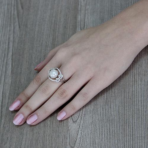 bague femme argent zirconium perle 8100560 pic6