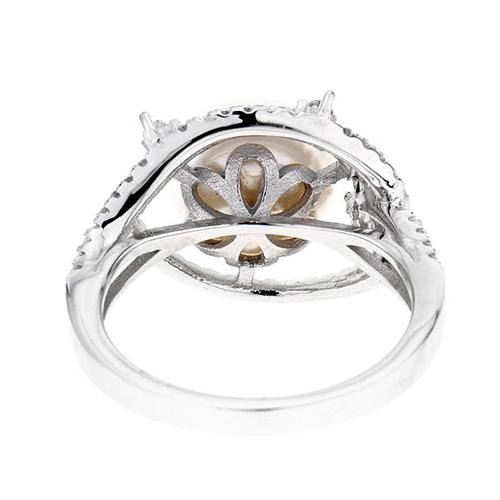 bague femme argent zirconium perle 8100561 pic4