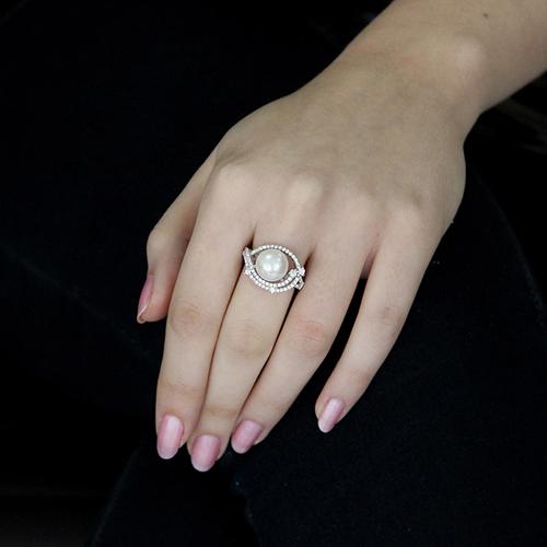 bague femme argent zirconium perle 8100561 pic5