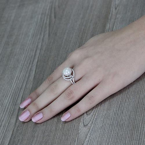 bague femme argent zirconium perle 8100561 pic6