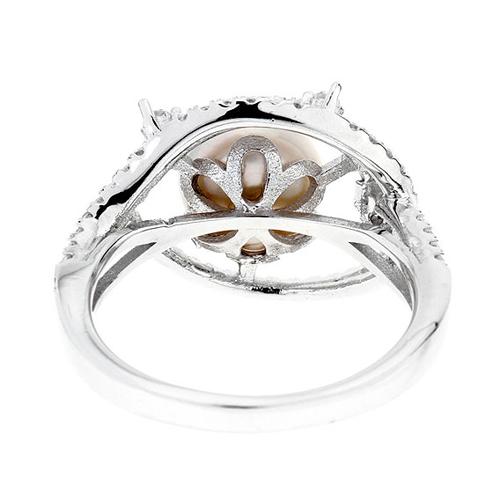 bague femme argent zirconium perle 8100562 pic4