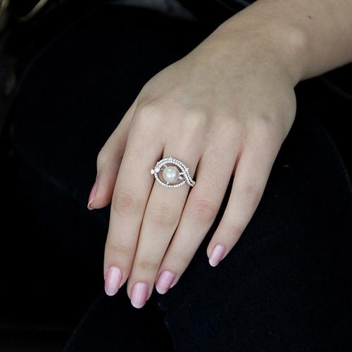 bague femme argent zirconium perle 8100562 pic5