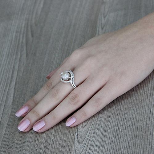 bague femme argent zirconium perle 8100562 pic6