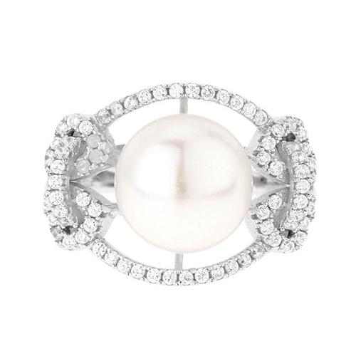 bague femme argent zirconium perle 8100564 pic2
