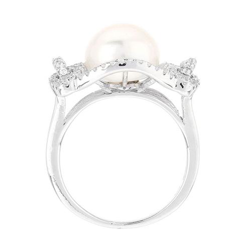 bague femme argent zirconium perle 8100564 pic3