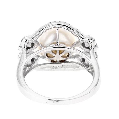 bague femme argent zirconium perle 8100564 pic4